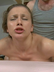 Sweet chick fucked by a masseur