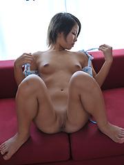 Cute japanese girl Siori riding dildo