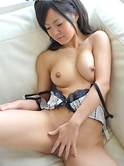 Teeny japanese girl Yume Aikawa in sexy dress
