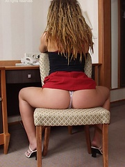 Dread-lock girl showing her young naked body
