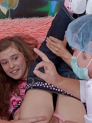 Lovely teenie gets banged in various positions