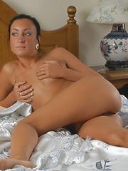 Cute girl masturbates