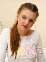 Girl next door teen spreads her pussy