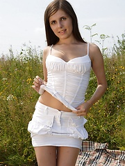 Cute teenager loves publicly masturbating outdoors