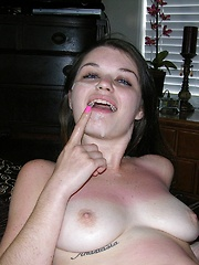 Amateur Teen Gives A Handjob And Receives A Blown Out Cumshot Across Her Face