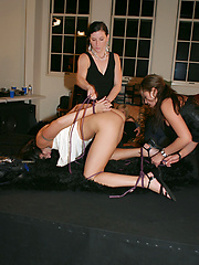Girls playing with their victim