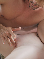 Girl and man in awesome sex prelude