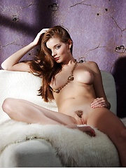 Soft and sensual bedroom romance with a voluptuous redhead.