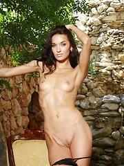 Skinny girl Olga has small tits