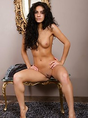 Russian brunette Malina solo pictures