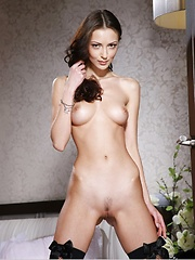 Anna is tall thin and so spectacular that she shines in the dark, all nude and waiting.