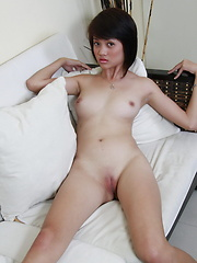 18 year old Krista proudly shows off her white skinned nubile body
