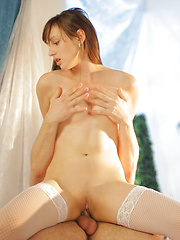 Cum hungry Nubile Nolita gets rammed by hard cock