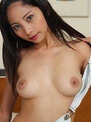Beautiful Maybel flashes her moist and tasty love holes