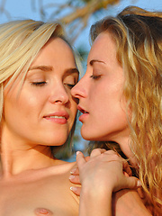 The beauty of the nature can be raised with presence of this gorgeous lesbian couple. Naturally nude, heartwarming cute.