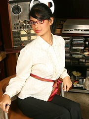 Karla Spice plays dress up as a sexy teacher