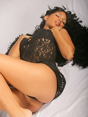 Karla Spice is your sexy dark angle that reveals almost all her beautiful naked body