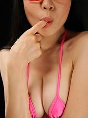 Hot japanese girl Shiori Motomiya plays with a dildo