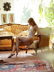 Blonde babe Charlise Bella sex art