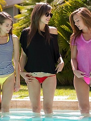 Malena as the host gets a special treat when the two other girls double up on her ass and pussy and after each babe is content with the attention they received they take a break and lay back in each others arms
