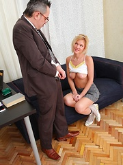 Shelly is a gorgeous blonde student who doesn't look that innocent to be perfectly honest