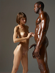 Oiled black guy