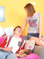 Doggy style anal ramming for teen Irina.