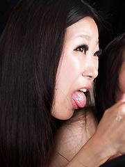Miyanaga Kaori  and Itou Rin energetic handjob