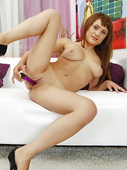 She gets her voluptuous ass fucked from all possible angles and leaves us with a nice load of cum