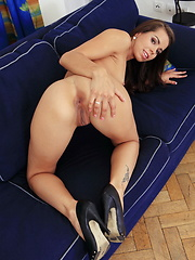 She has a nice dildo for her sweet little pussy and a huge meaty cock for her tiny butthole