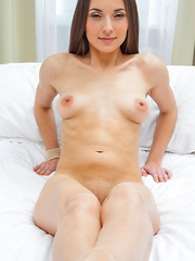 Breann flaunts her slender body showing off her dark nipples