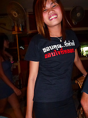 Thai bargirl Tan spreads her meaty cunt lips wide for cock