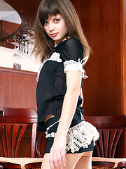 Lusi A teases in her sexy maid outift