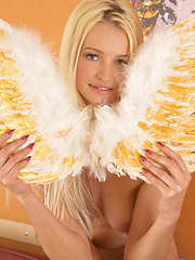 Big titted blonde angel