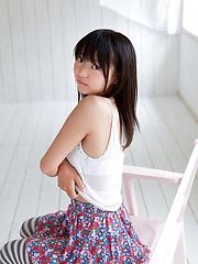 Nice Fuuka Nishihama undresses on the camera making us wild