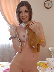 You do not need anything else than headphones and a lollipop on your body, just look at this teen and you will agree.