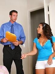 Super hot ass little school teen sucks on the tutors cock after failing some homework in these hot cumfaced teen fuck pics