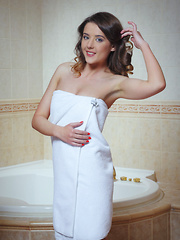 Filled to the brim with delightfully enticing captures as Sybil take a cool, refreshing dip at the bathtub.