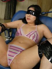 Arousing brunette Sayaka gets drilled hard