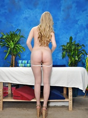 Cute blonde Stacie is seduced and fucked hard by her massage therapist